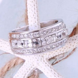 Gorgeous Band Ring Silver Plated Paved Cubic Zirco